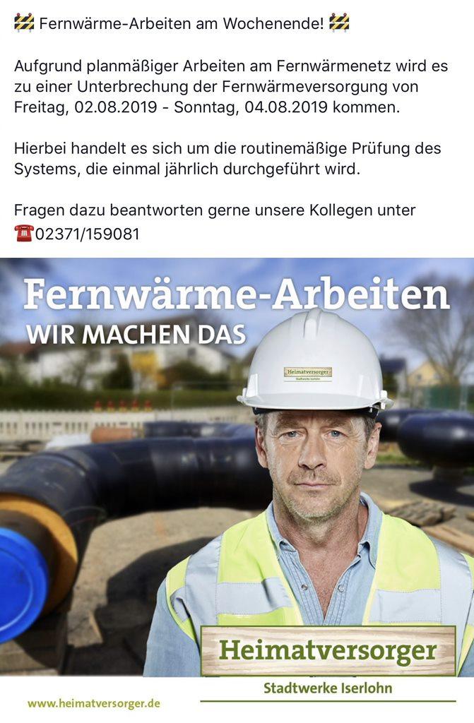 Fernwaerme Arbeiten 2019 #beielsteinwärme